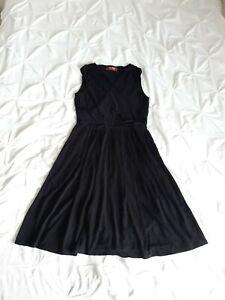 Max Mara Studio Woman Black Jersey Dress Size L Immaculate