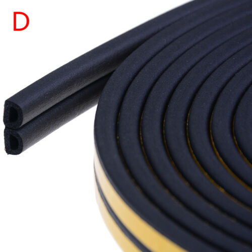 10M Draught Excluder Self Adhesive Rubber Door Window Seal Strip Roll Foam JG