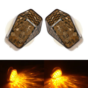 2x-Motorrad-LED-Verkleidungsblinker-fuer-Yamaha-R1-R6-R6S-FZ1-FZ6-E-Geprueft-Licht