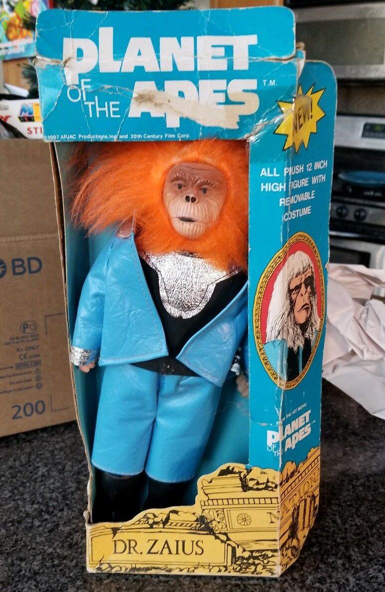 Vintage Planet Of The Apes Dr Zaius Mego Era Plush 10  Figure 1974 Well-Made MiB