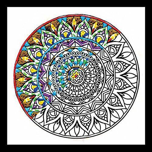 "Design Works Crafts 4089 Mini Mandala 5/"" x 5/"" Zenbroidery Kit Multicolor"
