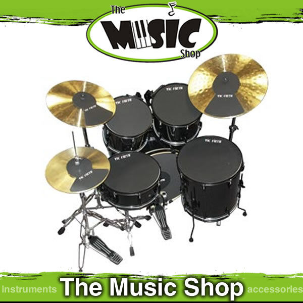 set of vic firth pp7 fusion drum mutes 7 pieces with 18 bass mute silencers for sale online. Black Bedroom Furniture Sets. Home Design Ideas
