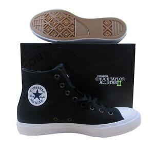 6f0f17a0e3b7 Converse Chuck Taylor All Star II Hi Shoes Lunarlon Black 150143C ...