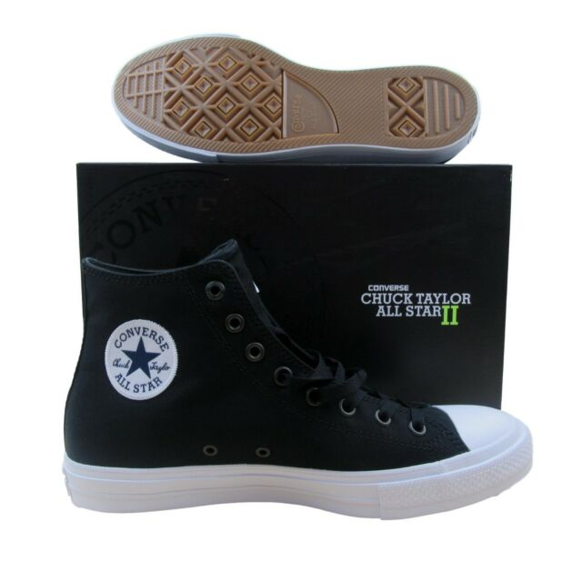 6d1e00cc865 Converse Chuck Taylor All Star II Hi Shoes Lunarlon Black 150143C Multi Size