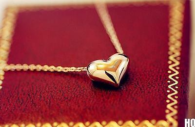 HOAU 2 Pcs Pretty Gold Heart Womens Bib Statement Chain Jewelry Pendant Necklace