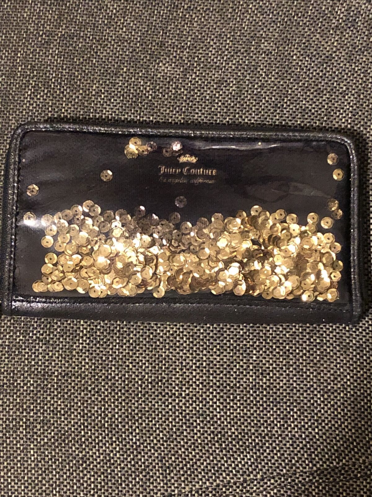 New JUICY COUTURE Los Angeles California Woman's Wallet Black RN#108833