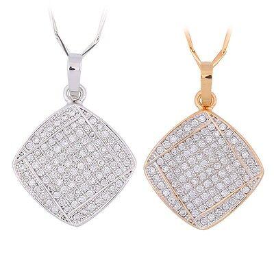 Pendant christmas antique chain 18k gold filled Swarovski crystal  necklace