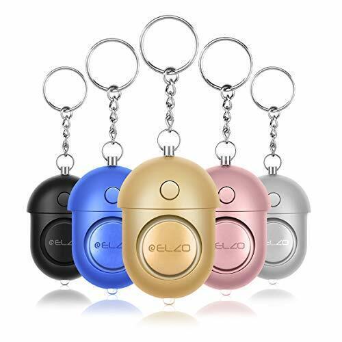 5 Pack ELZO Persönlicher Alarm-140 dB Safesound Personal Alarm mit Taschenlampe