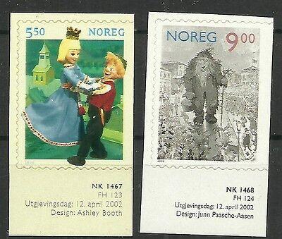 Beliebte Marke Norwegen/ Märchenfiguren Minr 1432/33 Dl ** Skl üBerlegene In QualitäT