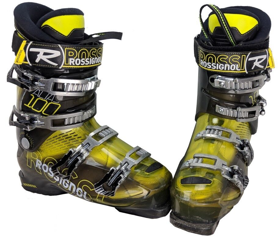 Rossignol Alias Sensor 100 Ski Stiefel Mondo 25.5/ Herren 7.5 - Gelb/Gry/Blk - USED