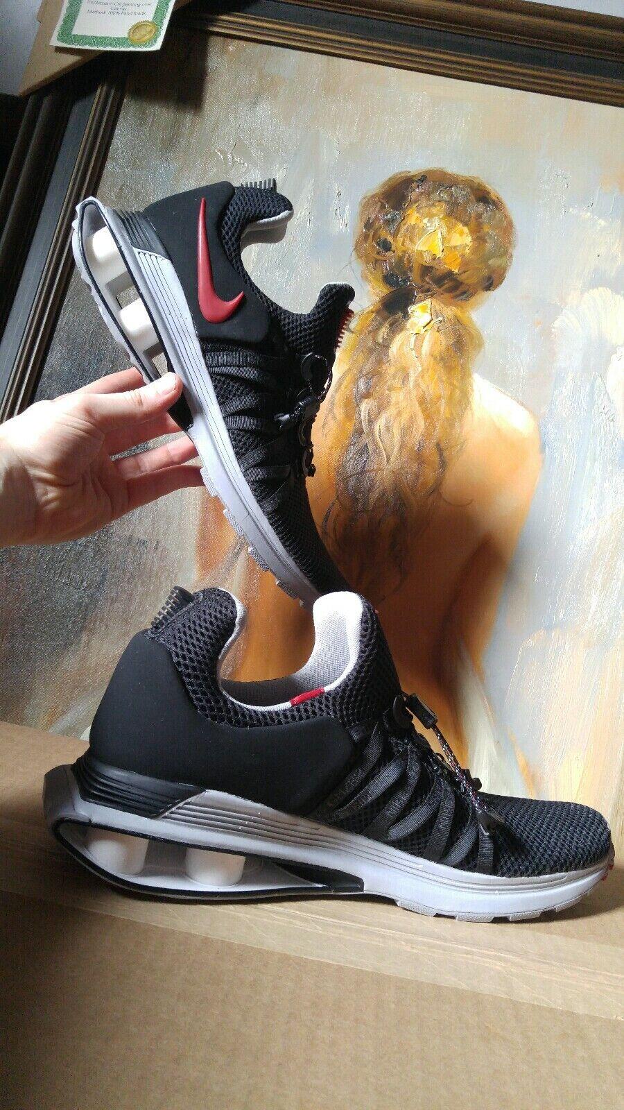 Nike Shock Gravity size 10 10.5 Black Varsity Red White AR1999-016