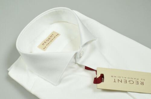 blanche Chemise col Slim élégante piqué Fit à de coton français pur Pancaldi et 61AwqdZrfw