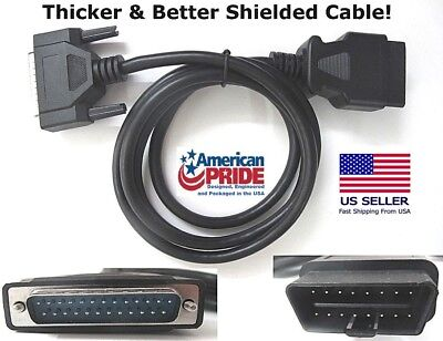 NEW OBD2 OBDII Cable for Zurich ZR11 /& ZR13 Code Reader Scan Tool 63807 /& 63806