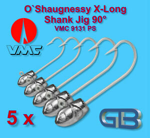 5-x-Meeresjig-Dorschbombe-25g-70g-Jig-Bleikopf-VMC-O-Shaugnessy-Jig-9131-PS