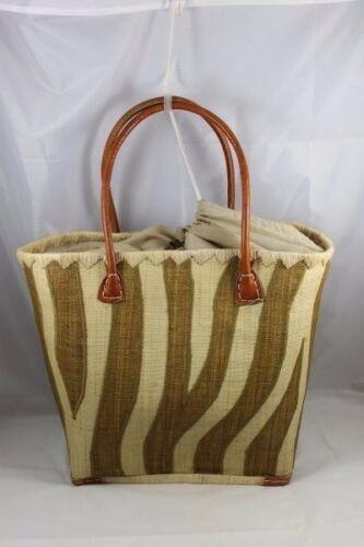 Tote reistas verzendkosten organische Grote Raffia Shopper gratis Afrikaanse strand natuurlijke n06q6YHp