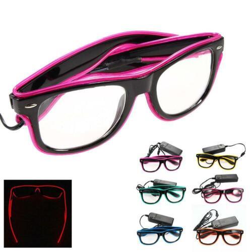 Rave Party Costume KTV LED accendere EL Filo Glow Tonalità Eye-portano gli occhiali hot di