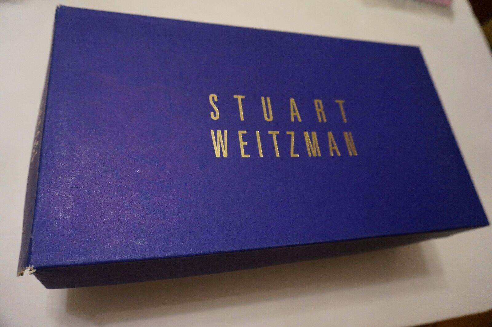 Stuart Weitzman Brillo De Malla De Metal & & & tachonado Zapatillas Zapatos Con Cordones De Cuero 8.5 M  estar en gran demanda