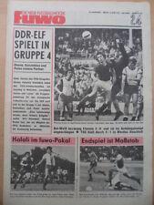 FUWO 24 - 13.6. 1972 * FDGB-Pokalsieger Carl Zeiss Jena Olympia-Auslosung
