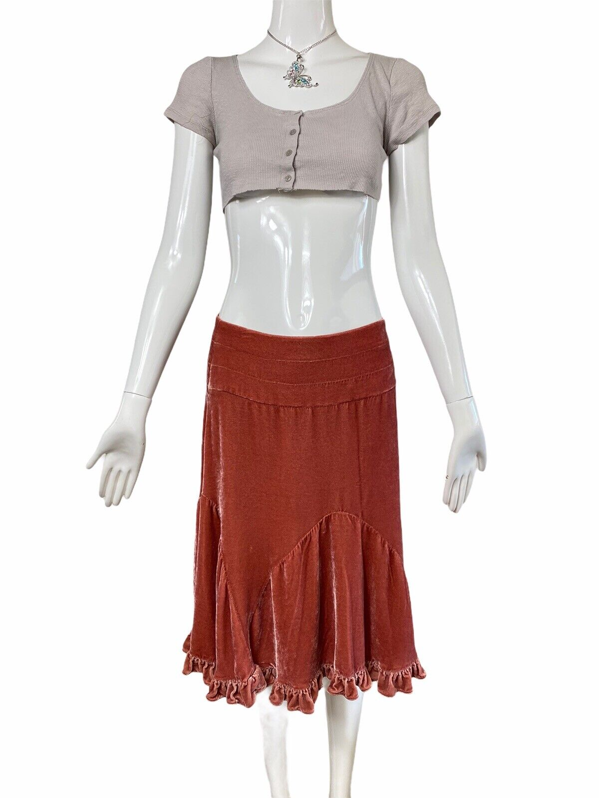 Fairycore Grunge Ribbed Crop Top Y2k 90s Aesthetic - image 8