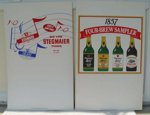 2 Stegmaier Heavy Paper Signs Ring a Ding & 1857 New Old Stock WilkesBarre PA