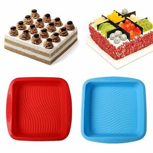 Silicone Large Cake Mold Pan Muffin Chocolate Pizza Pastry Baking Tray Mould New