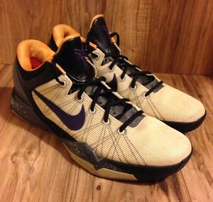 711122c07fca RARE🔥 Nike Zoom Kobe VII 7 System Opening Day Lakers Purple Gold ...