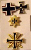 German Prussia Iron Cross Medal Badge Award Pin Battle Set Army Navy War Uniform