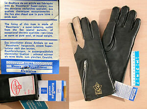 Gants-SEGURA-TAILLE-8-d-039-epoque-neufs-Vintage-NOS-motorcycle-leather-gloves