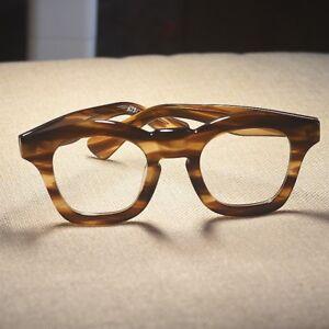 9725ae43e848 Image is loading Mens-Vintage-handmade-Eyeglasses-frame-women-tortoise- acetate-