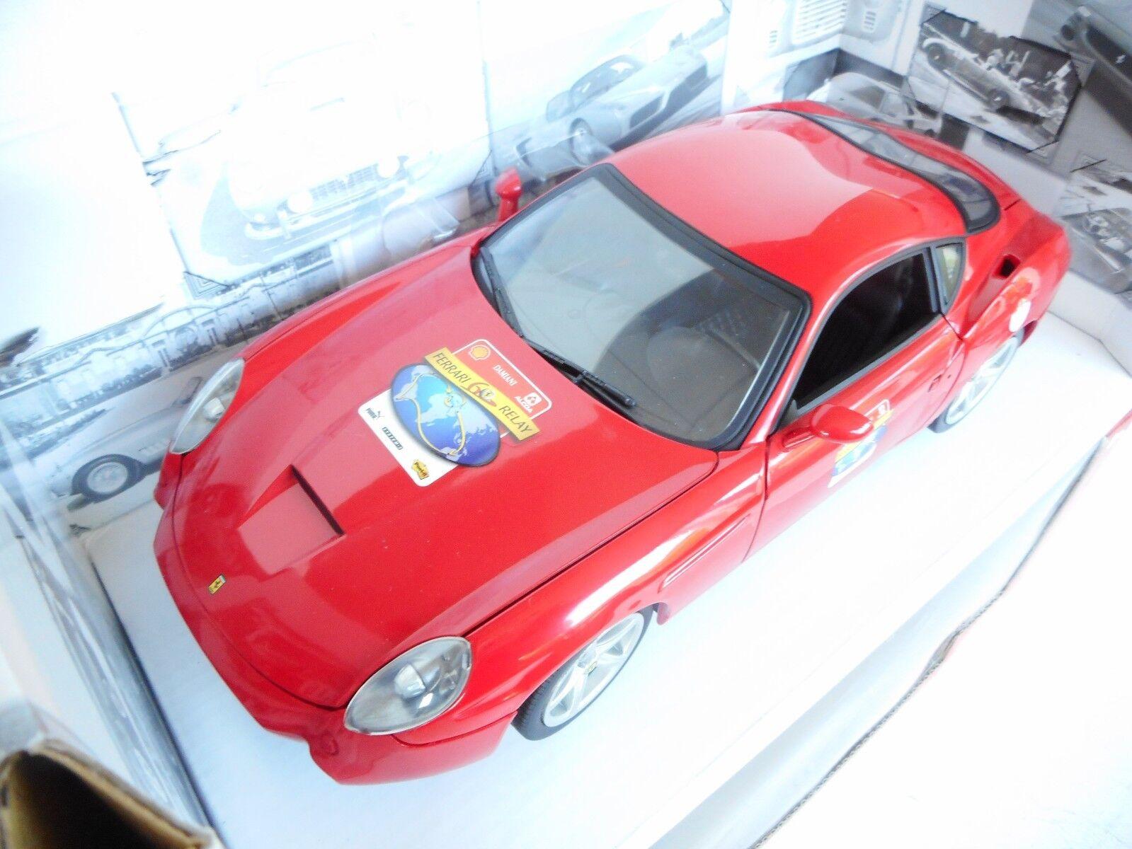 Ferrari 575 GTZ Zagato 2006 rojo, Modellauto 1 18   Mattel - Hot Wheels M BOX
