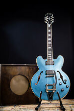 EPIPHONE BY GIBSON ES-355 LIMITED EDITION TV PELHAM BLUE 335 SEMI HOLLOW GUITAR