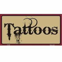Tattoos Novelty Vanity License Plate Tag Sign