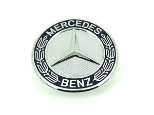 Genuino-Nuevo-Mercedes-Bonnet-insignia-emblema-frontal-para-un-CLA-CLS-GLA-Clase-SLK-S