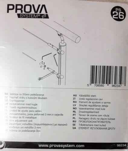 DOLLE Prova passend zu Edelstahldraht PS 29 PS 26 Drahtspanner für Pfosten