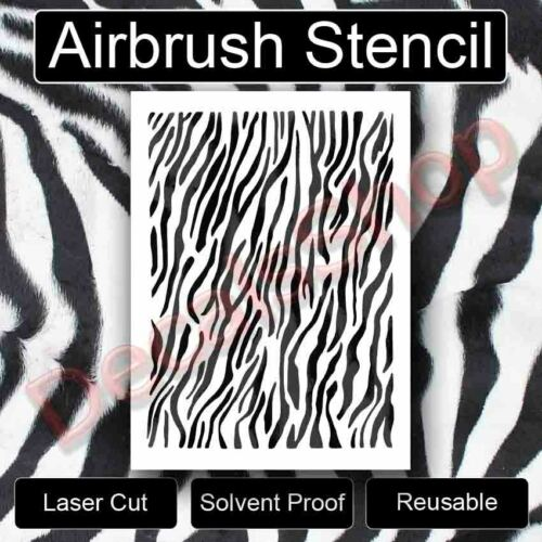 ZEBRA STENCIL SAFARI ANIMAL PRINTS LOTS OF STRIPES STENCIL TEMPLATE NEW FreeShip