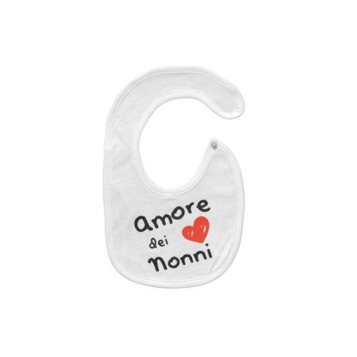 Bavaglino neonato con stampa Amore dei Nonni di Babyvip R569