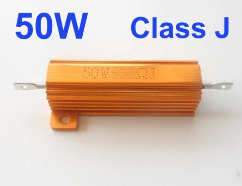 5Pcs 50 W VATIOS POTENCIA capa de metal Wirewound Resistor 0.1 Ω ~ 6.8Ω Ohm Clase J ± 5/%