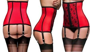 Nancies-red-lingerie-waspie-shapewear-of-with-black-lace-ndlwc-2