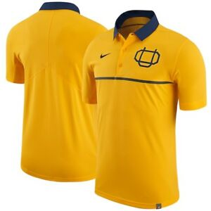 Nike Oregon Webfoots Elite Coaches Sideline Polo - Yellow Gold/ Men's Medium