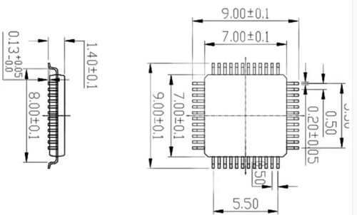 QFP48 TO DIP48 IC Test Socket Programming Adapter for QFP48//TQFP48//FQFP48//PQFP48