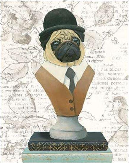 Emily Adams Canine Couture Newsprint (III) Barella-Immagine Schermo Cane Moda