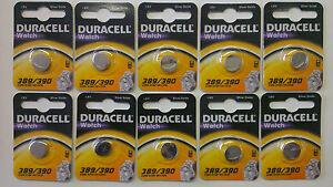 5-x-389-390-duracell-oxyde-d-039-argent-montre-piles-1-5V-D389-D390-SR1130W-genuine