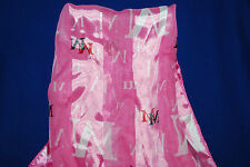 WOMANS SCARF  WRAP 100% SILKY SMOOTH  POLYESTER DESIGNER INITIAL M  #4NY
