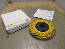 "4*I-19 3M 6/"" Brown Radial Bristle Brush 27603 Grade//Grain 36 with Bushings"