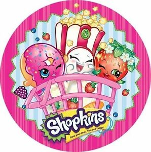 Shopkins Cake Topper LICENSED OFFICIAL Round Edible Icing ...