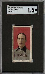 Rare 1909-11 T206 HOF Fred Clarke Portrait Piedmont 150 Pittsburg SGC 1.5