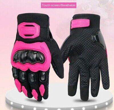 SHIMA RUSH GLOVES LADY PINK Guanti da moto corti in pelle con protezioni per donna rosa, XS