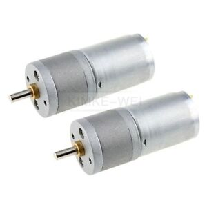 2 X 24v Dc 600rpm Mini Torque Gear Box Motors Hobby Ebay