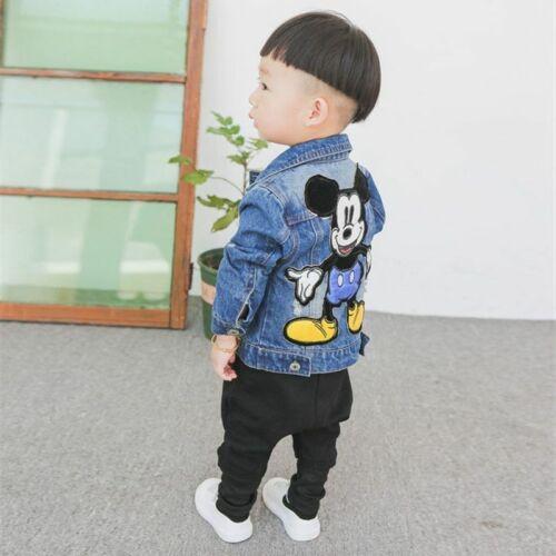 Coats Children Denim Jacket Outerwear Baby Boy Girl Jeans New Kids Fashion Patch