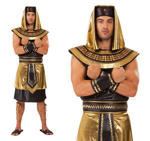 Image is loading Mens-King-Tut-Fancy-Dress-Costume-Egyptian-Pharaoh-  sc 1 st  eBay & Mens King Tut Fancy Dress Costume Egyptian Pharaoh Egypt Outfit New ...